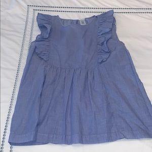 Blue Sleevless Blouse